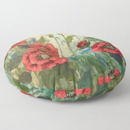 SK's Field of Poppies Floor Pillow