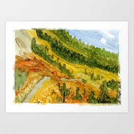 Autumn Mountain Path Art Print