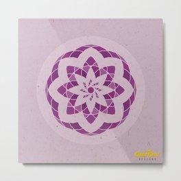 Crown Chakra Mandala Metal Print