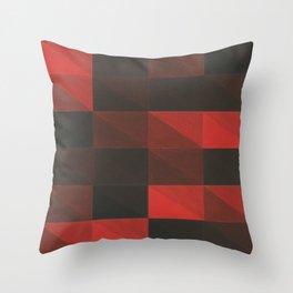 Pixel triangles Throw Pillow