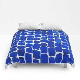 Brick Stroke Blue Comforters