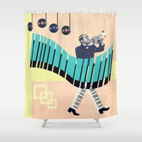 louis Shower Curtains featuring St Louis by Liall Linz