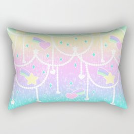 Beads and Stickers Rectangular Pillow