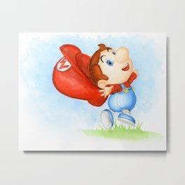 Toddler Mario Metal Print