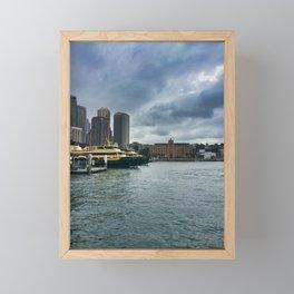 Sydney Ferry Terminal Framed Mini Art Print