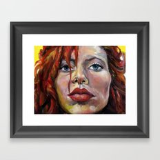 Exaggerated self portrait! Framed Art Print