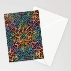 Colorful Fractal Pattern Stationery Cards