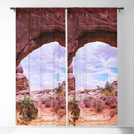 southwestern united states desert glow up tint landscape art nature photography Blackout Curtain