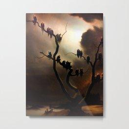 Vivid Retro - Ghosts in a Tree Metal Print