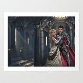 Red Rope of Fate KM Shea Cover Illustration Art Print