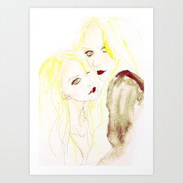 Mary-Kate & Ashley Olsen Art Print