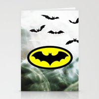 bat man Stationery Cards featuring Bat man  by haroulita