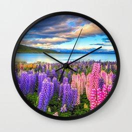 LUPINES FIESTA Wall Clock