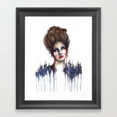 Burn // Fashion Illustration Framed Art Print