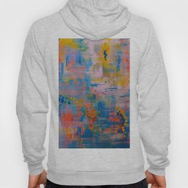 Summer in the Park, Blue Abstract Painting, Abstract wall art Hoody
