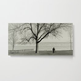 The Tree and The Man Metal Print