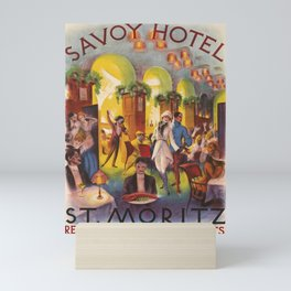 Affiche Savoy Hotel St Moritz Mini Art Print