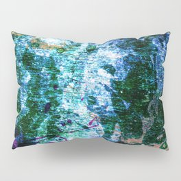 Face in wood abstract one Pillow Sham