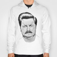 ron swanson Hoodies featuring Ron Swanson by 13 Styx
