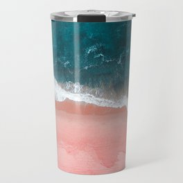 Turquoise Sea Pastel Beach III Travel Mug