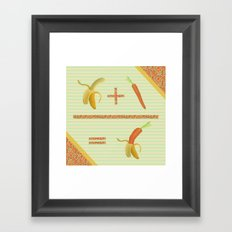 what if a banana fall in love with a carrot ? Framed Art Print