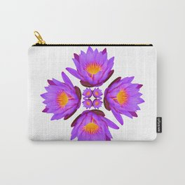 Purple Lily Flower - On White Carry-All Pouch