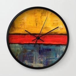 Primary Rothko Wall Clock