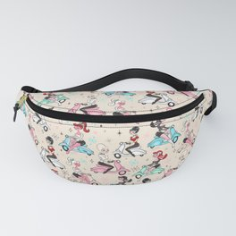 Scooter Girls Pattern Fanny Pack