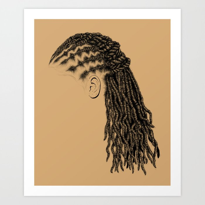 Crown: Styled Locs Art Print