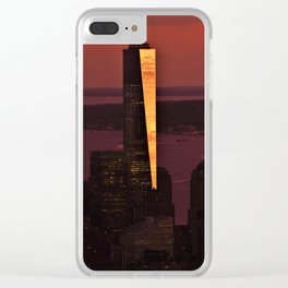 World Trade Sunset Clear iPhone Case