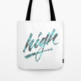 HIGH - Floral Blue/Grey Tote Bag