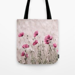 Poppy Pastell Pink Tote Bag