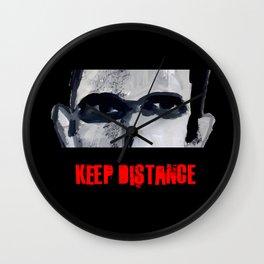 Keep Distance Wall Clock