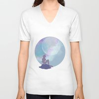ariel V-neck T-shirts featuring ariel by Vita♥G