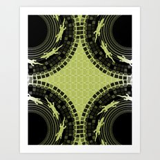 Alligator Mosaic Medallion Art Print
