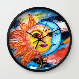 Sun and Moon United Wall Clock
