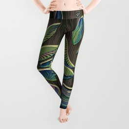 I Think More is More #Plant #Glitch-Art Leggings