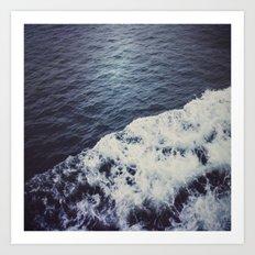 Waves. Art Print