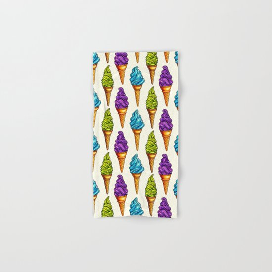 Ice Cream Blue Purple Green Hand & Bath Towel