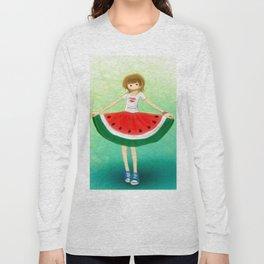 Watermelon Skirt Long Sleeve T-shirt