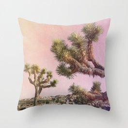 Joshua Trees ii - Surreal Desert Set Throw Pillow