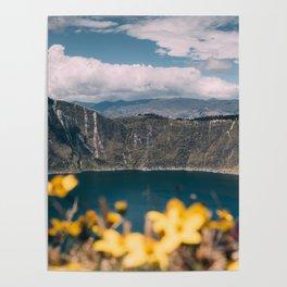 Quilotoa Lagoon Ecuador Poster