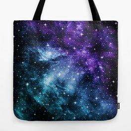 Purple Teal Galaxy Nebula Dream #1 #decor #art #society6 Tote Bag