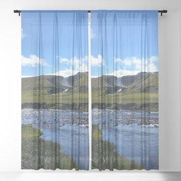 Icelandic waters Sheer Curtain