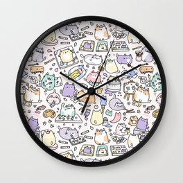 Artsy Cats Wall Clock