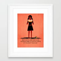 cake Framed Art Prints featuring Cake by Poorboymark