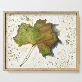 Sycamore Leaf Serving Tray