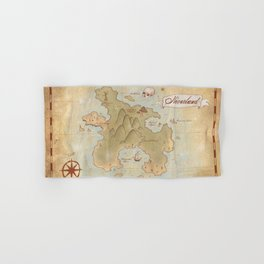 Map of Neverland Hand & Bath Towel