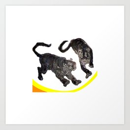 Two Tigers jGibney The MUSEUM Society6 Gifts Art Print