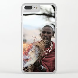 The Fire Maker Clear iPhone Case